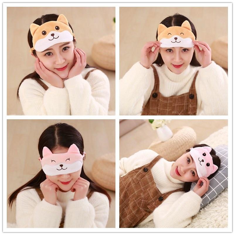 цены 1pc Corgi dog / lazy sleep mask on holiday travel, relax, sleep aid blindfolded ice cover eye patch sleeping mask cove