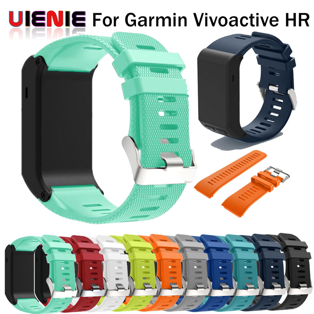 Factory price Sports Silicone Wrist Strap Bracelet Strap Band For Garmin vivoactive HR Replacement Band Bangle Drop Shipping цена