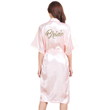 Large Size S-3XL Gold Letter Bride Bridesmaid Get Ready Robes Bridal Party Gifts Bathrobe Dressing Gowns For Women