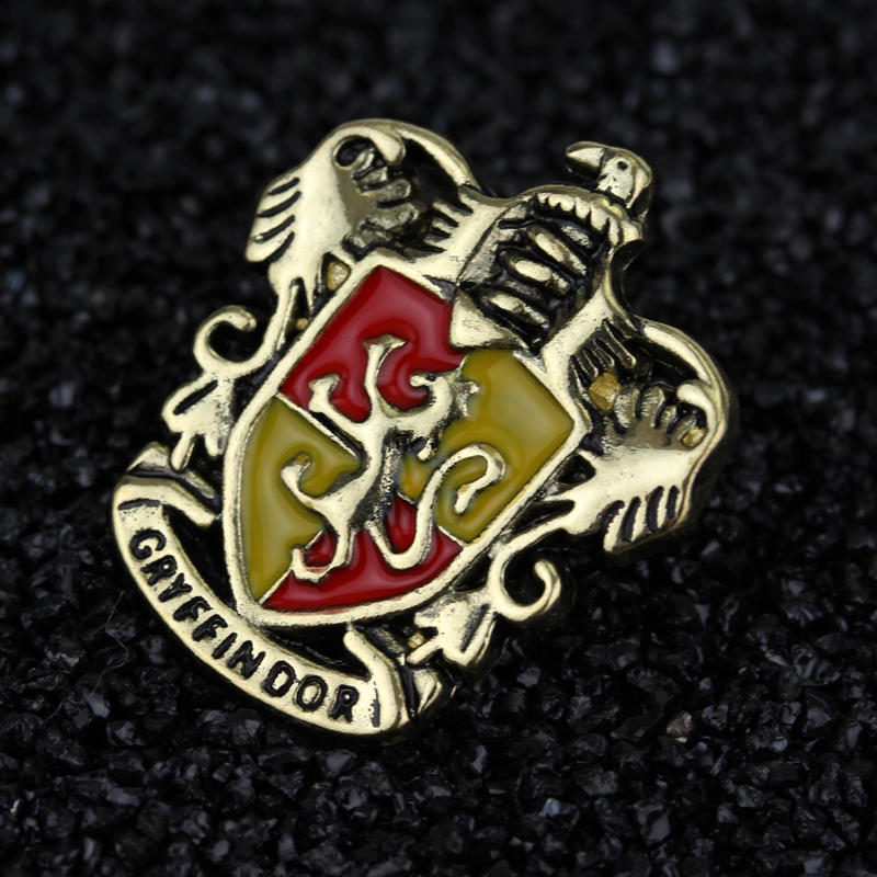 Brooches Scarf Badg Jewelry Hogwarts Cosplay Ravenclaw Hufflepuff Gryffindor Pins Lapel-Pin