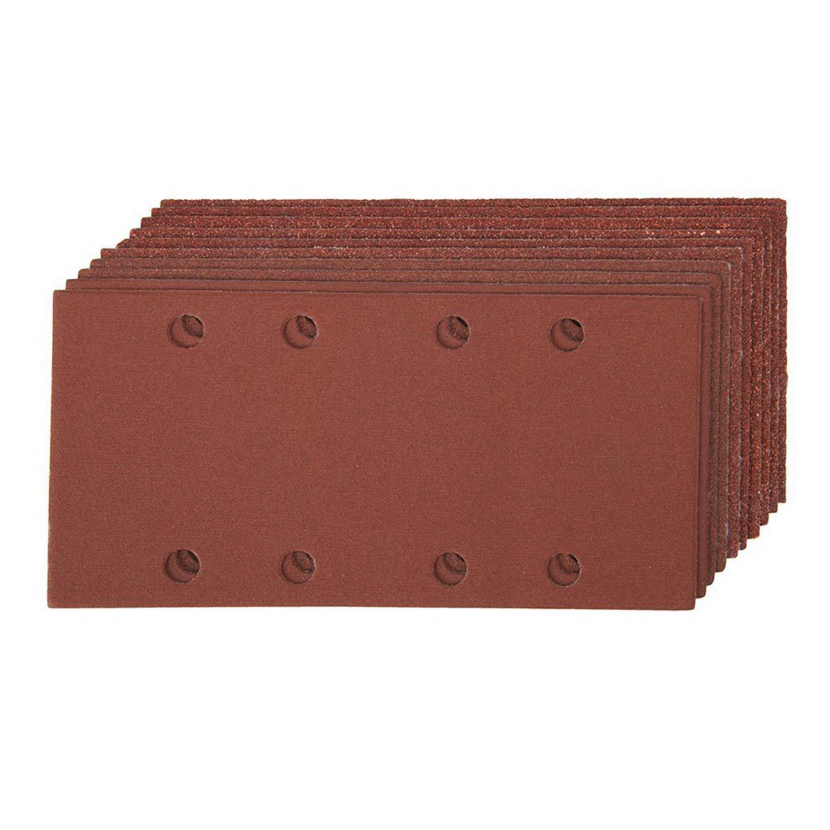93x186mm 20 Pack Hook/Loop 1/3 Sheet Sanding Sander Sandpaper Pads Mixed Grit 40 120 8-hole Square Sandpaper Drop Shopping
