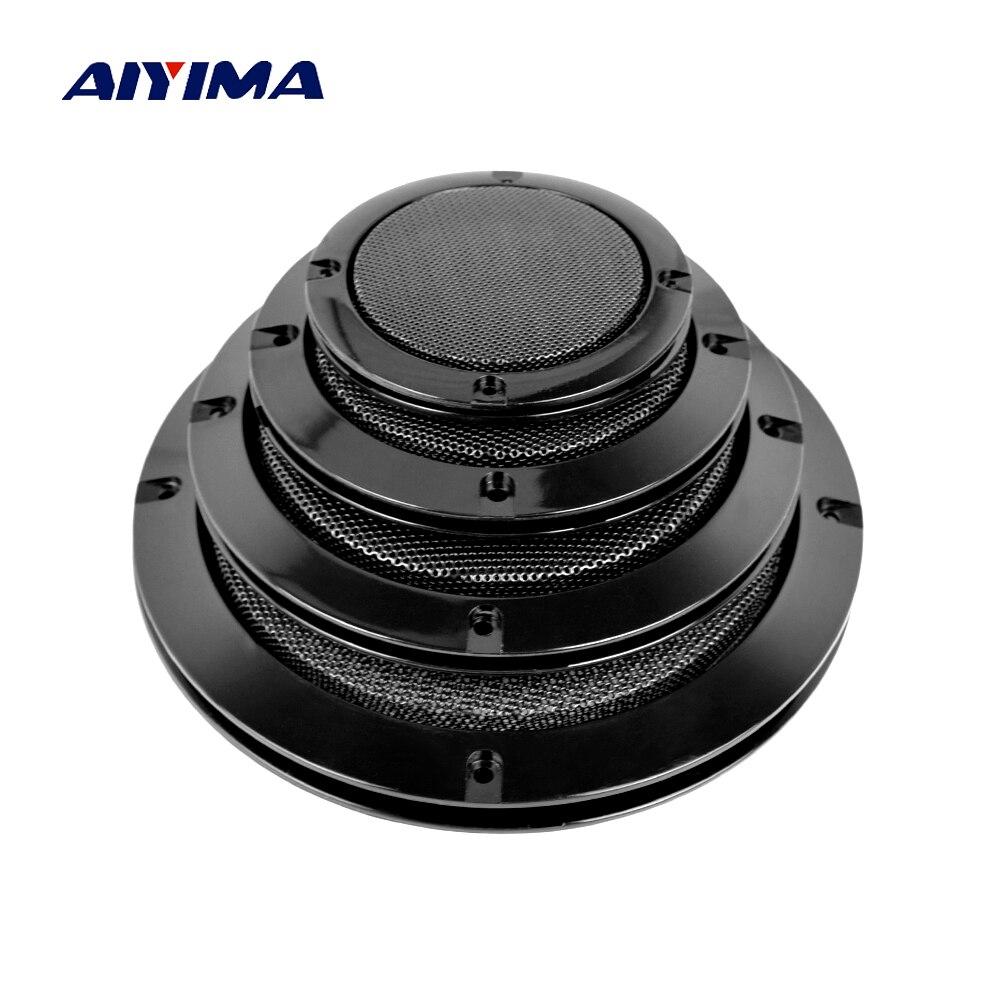 Aiyima 2 pçs alto-falantes de áudio capa protetora 3/4/5/6.5 Polegada malha de proteção grade líquida diy para o carro capa alto-falante