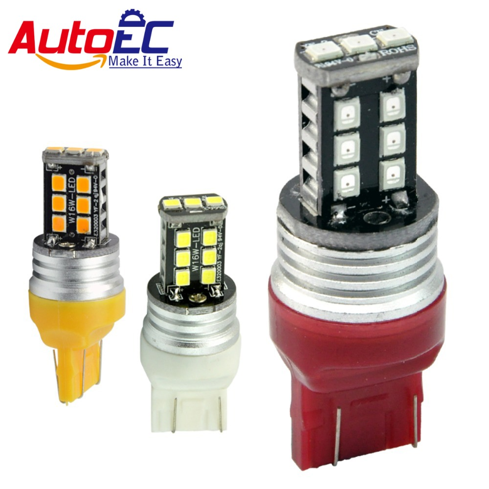 7440 7443 <font><b>T20</b></font> stop light 15 <font><b>LED</b></font> 2835 SMD W21/5W car <font><b>rear</b></font> <font><b>bulbs</b></font> auto brake lights back lamps red white yellow #LD24 image
