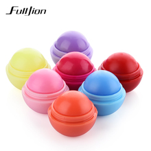 Fulljion New Makeup Round Candy Color Lip Balm Lip Gross Natural Plant Nutritious Moisturizer Fruit Embellish Lip Lipstick