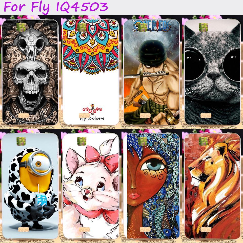 TAOYUNXI Soft TPU Rubber Cool Skull Animal Phone Case For Fly iq4503 iq 4503 quad era life 6 life6 Back Cover Bags Skins