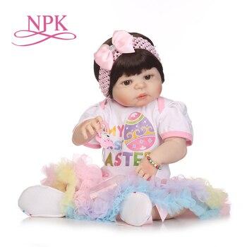 NPK silikonowe całego ciała reborn lalki realistyczne ręcznie robione lalki dla dzieci dziewczyna moda zabawki dla dzieci wodoodporne Boneca Model prezenty urodzinowe