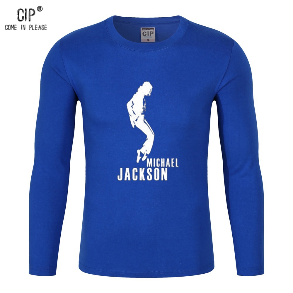 CIP Brand Michael Jackson Tee Shirts Billie Jean Moonwalk Design Clothing Fashion Men Shirt Long Sleeve 2016 Autumn High Quality