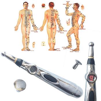Elektroniczne pióro do akupunktury elektryczny Laser akupunktura meridian maszyna magnes ulga w bólu przyrząd do terapii relaks narzędzia tanie i dobre opinie Sielenson massagerpen