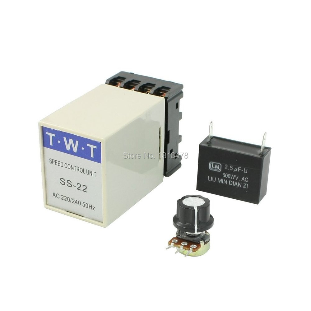 SS-22 20K Ohm Potentiometer 220V/240V Electric AC Motor Speed Controller