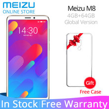 Meizu M8 Küresel Sürüm V8 M 8 4 GB 64 GB ROM Smartphone MTK Helio P22 Octa Çekirdek 5.7