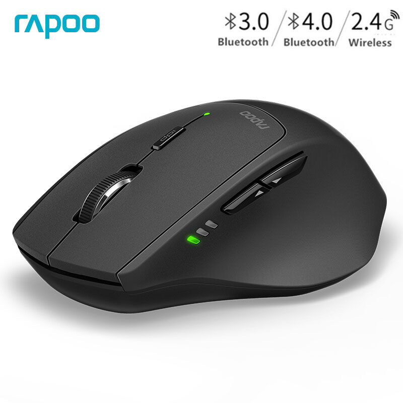 Rapoo MT550 Original Wireless Mouse Multi-Mode Portable Mouse Switch Between Bluetooth 3.0/4.0 And 2.4G For Business Office