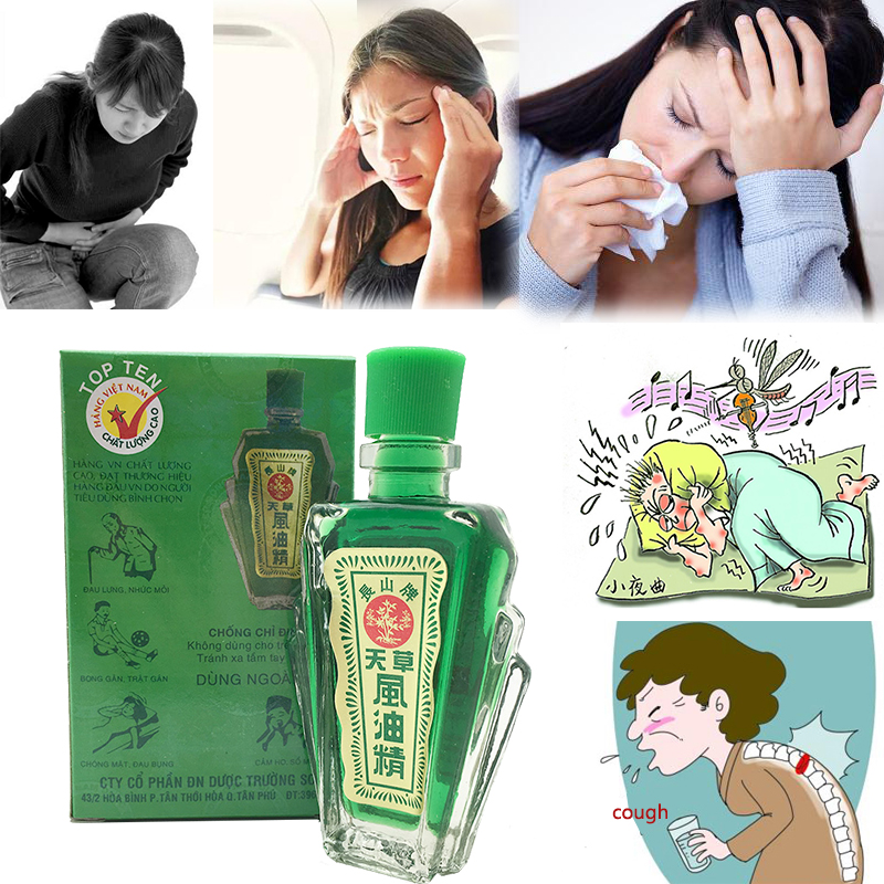 12ml Refreshing Oil Vietnam Balm For Headache Dizziness Medicated Oil Rheumatism Pain Abdominal Pain Fengyoujing