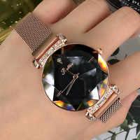 Luxury Lady Watch for Women Magnet Buckle Dress Watch Women 2018 New Stainless Steel Quartz Watch Clock Women horloges vrouwen
