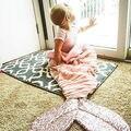 Мода Девочка Хвост Русалки Одеяло Супер Мягкие Малышей Диван Спальный Мешок Розовый Младенческой Спальный Мешок Дети Костюм
