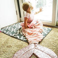 Fashion Baby Girl Mermaid Tail Blanket Super Soft Toddler Sofa Sleeping Bag Pink Infant Sleeping Bag Kids Costume