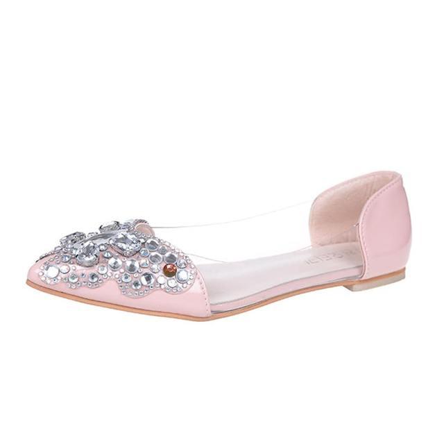 ANOVISHANA women Ballet flats shoes women Rhinstone ballerina flats women flats shoes luxury shoes Crystal wedding shoes D401