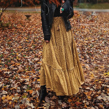 Jastie Boho Print Wild Thing Maxi Skirt Elastic Drawstring Waist Casual Skirts Women