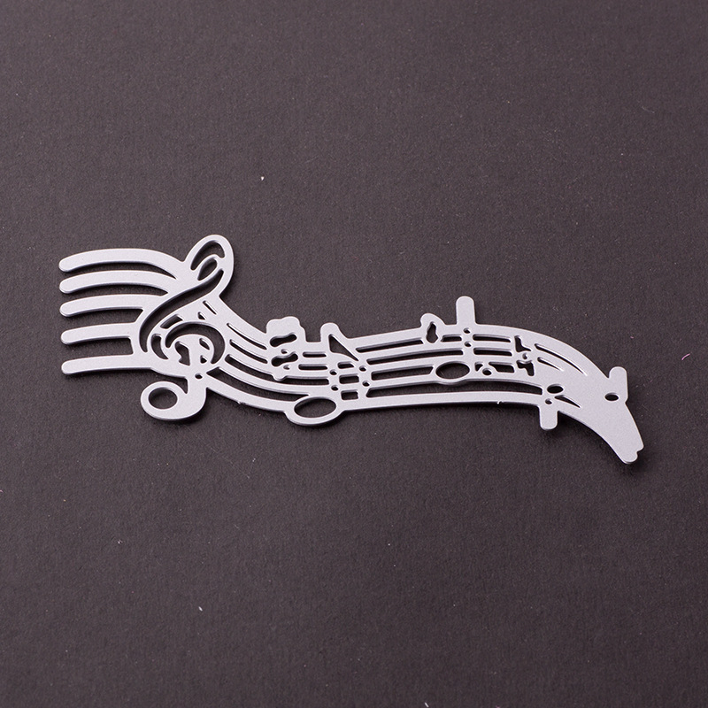 Music Score Shaped Cutting Die Metal Dies Cutting for Scrapbooking Craft Dies Scrapbooking Nouveau Die Cut for Handbook Cards