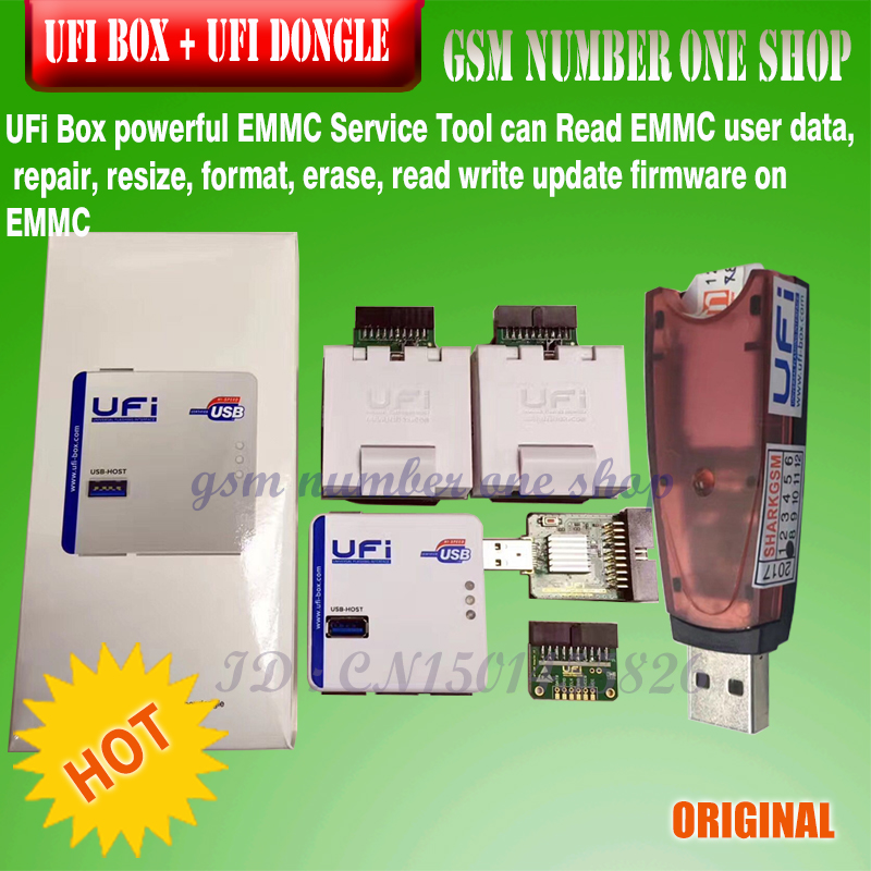 gsmjustoncct 2018 NEW 100 ORIGINAL UFI BOX With UFI DONGLE ufi box SET AND UFI DONGLE