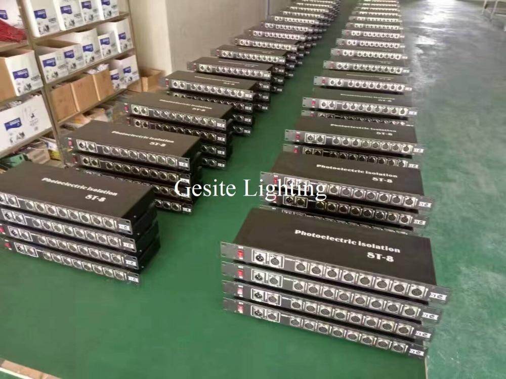 tage controlador de luz dmx512 luz amplificador de sinal splitter distribuidor dmx divisor de 8 vias