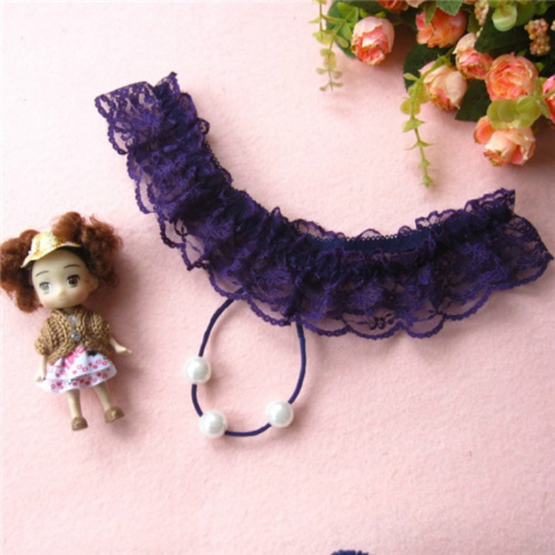 Buy Women Lace Thongs  Low Waist T-back T Briefs Erotic Underwear Girls Pearl G String Sex Crotchless Panties Sexy Appeal Intimates
