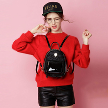 FULANPERS Frauen Mini Rucksack Weiblichen Leder Schwarz Tasche Stilvolle Spitze Zurück Pack Feminine Schule Rucksack für Jugendliche Mädchen