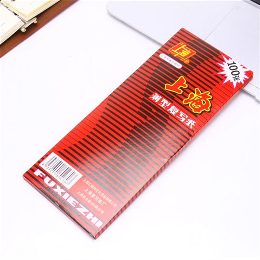 100pcs/box 38K Red Carbon Stencil Transfer Paper Double Sided Hand Pro Copier Tracing Hectograph Repro 22x8.5cm