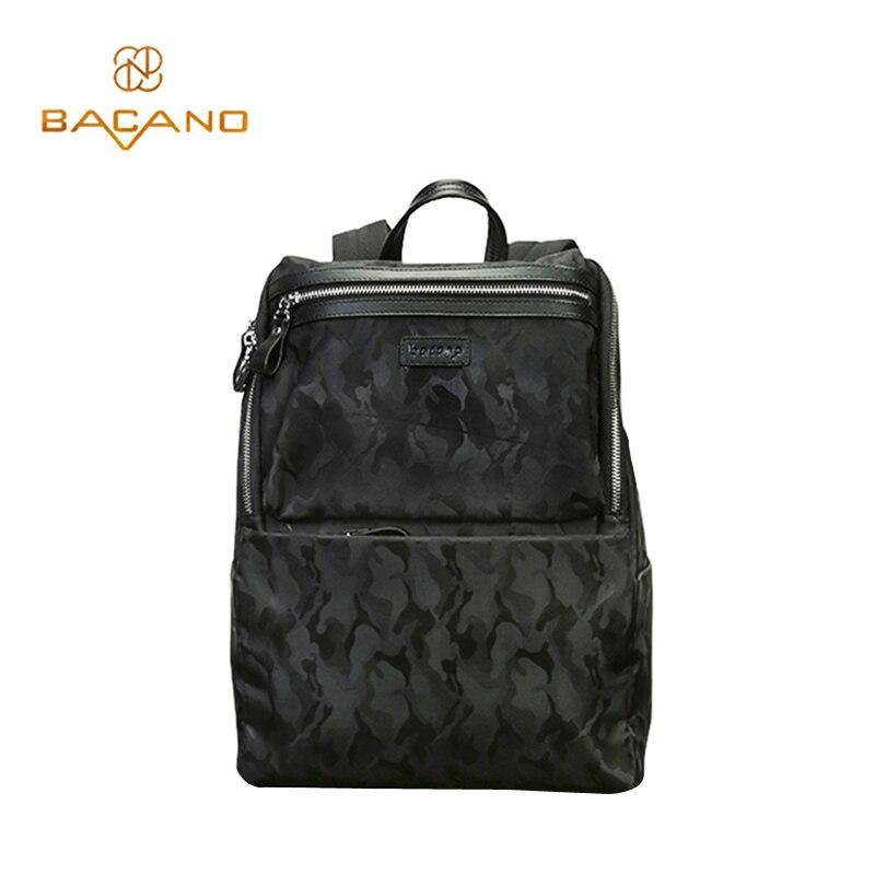 ФОТО Bacano Men's Backpacks High Quality Microfiber Synthetic Leather Backbag Stone Lines Zippers School bags mochila masculina bolsa