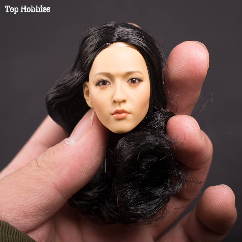 """1//6 Cute Girl Carved Sculpt Model Toy Female Head Fit 12/"""" Action Figure"""