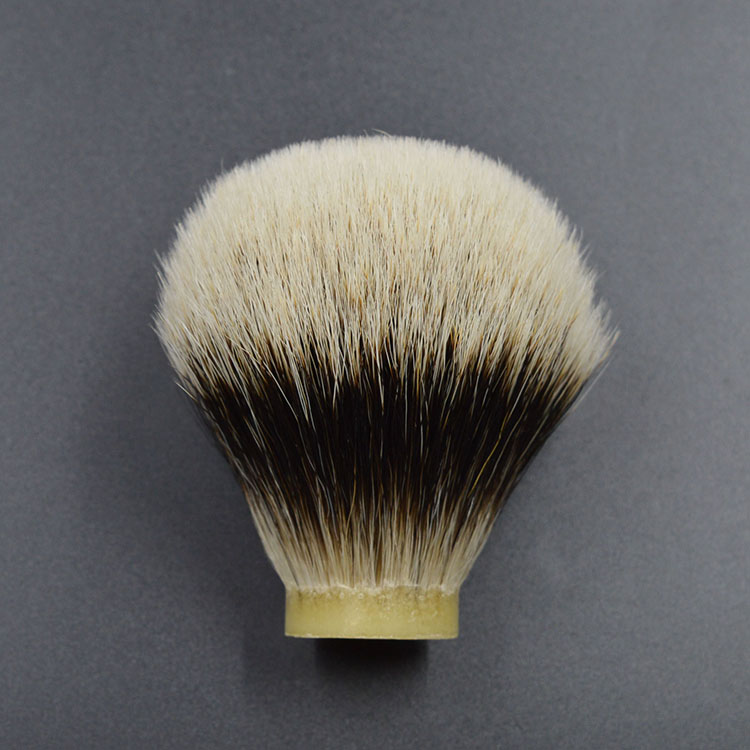 beard shaving brush knot head two band badger hair beard brush head 25/67mm
