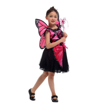 Pink Butterfly Fairy Elf Princess Halloween Costume  1