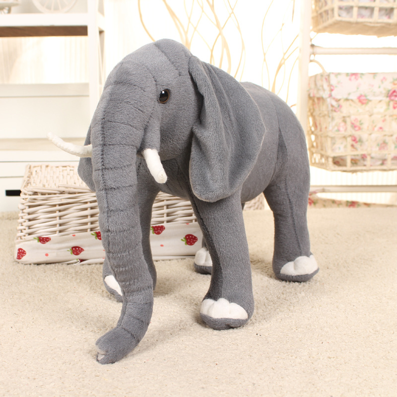 Super Big Size 42cm/50cm/58cm/80cm Real Life Elephant Stuffed Plush Toys Artificial Animal Toy Doll Home Decor Accessories Toys