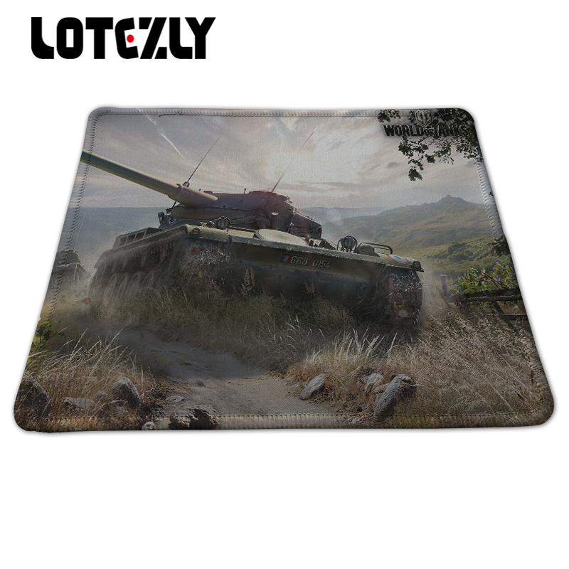 New Brand World of Tanks Lotezly Stitched Edge Mousepad Laptop Computer Desktop Gaming R ...