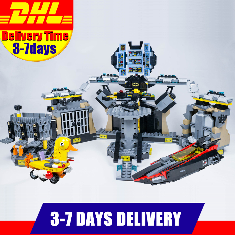 Clone 70909 New Arrival LEPIN 07052 Batman Movie Batcave Break-in Man-Bat Bricks Sets Building Block Toys Clone 70909 lepin 07052 1047pcs super heroes batman batcave break in diy model building blocks gifts batgirls movie toys compatible 70909