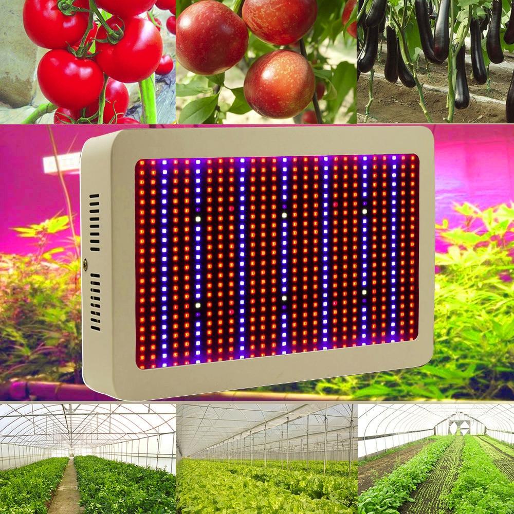Full Spectrum 600W LED Hydroponics Grow Light panel LED grow Lamp for Flower Plant Herbs Vegetable