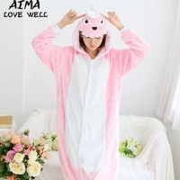 Winter Pajama Sets Women Pijama Hoodeds Dinosaurs Tiger Cartoon Cosplay Pyjama Unicornio Onesies For Adults Animal
