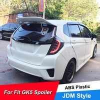 New Hot Sale Rear Car Spoiler Wing For Honda Fit Jazz GK5 2014 15 16 17 18 19 ABS Plastic Material JDM Style Roof Spoiler Wings