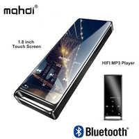 mahdi M210 Mp3 Player Bluetooth Touch Screen 1.8 inch Portable Sports USB HD HIFI Music Player 16GB Support TF Card Ultra-thin