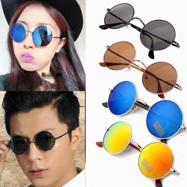 78e80a52ec Vintage Sunglass Unisex Hippie Shades Hippy 60S John Lennon Style Round  Sunglasses Fashion Women Men Sun Glasses