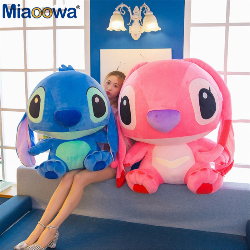 1pc 80cm Super Giant Cute Anime Lilo And Stitch Plush Toy Baby Soft Pillow Kids Stuffed Doll Baby Toy For Children Gift - 5