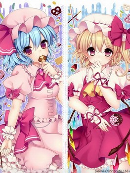 Touhou Project Anime Flandre & Remilia 150*200CM Single-layer Blanket #36775