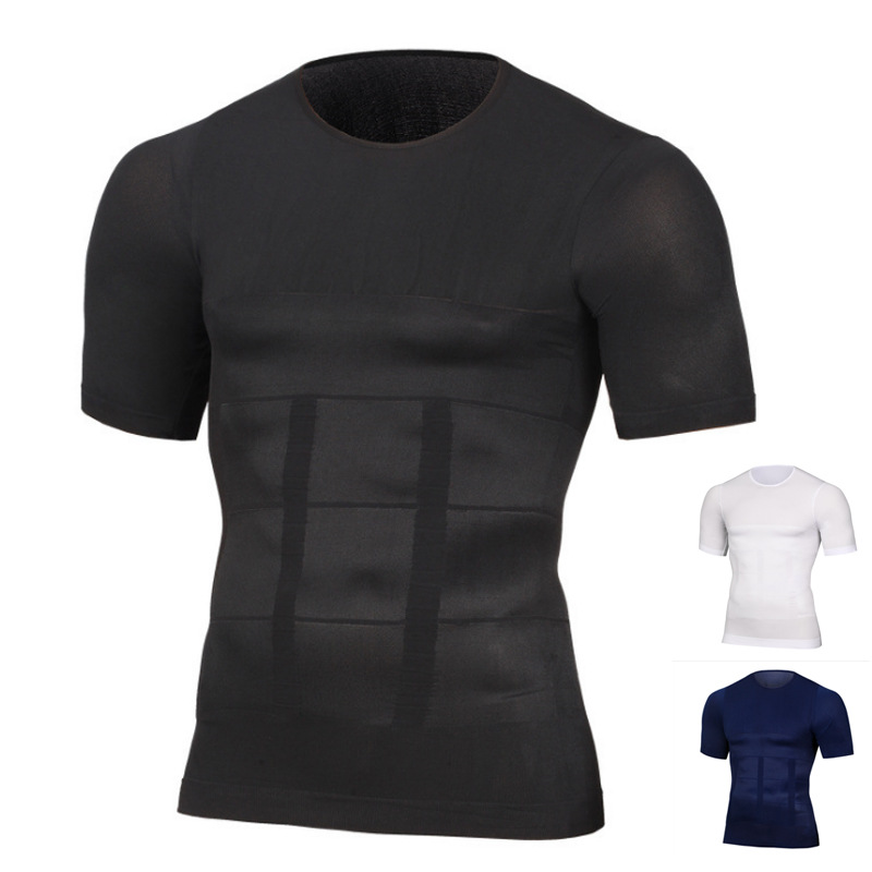 Seamless Compression Running T Shirts Skinny Sports Shorts Sleeve Tights Bodybuilding Fitness Sweat Shirts Male Underwear