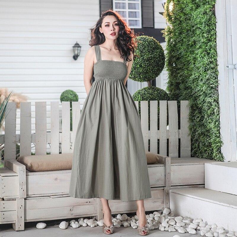 2018 Été Essentiel Type Mince Jambe Large Combinaisons Femmes Longues Jambes Une Taille Adapte Tous Pantalon Respirant Tissu Salopette