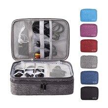 Электронные аксессуары Органайзер кабель зарядное устройство для путешествий гаджет сумка жесткий диск чехол для переноски, молния для iPad Mini, кабели, power Bank
