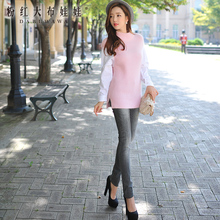 dabuwawa 2016 slim fashion gray jeans women plus size autumn