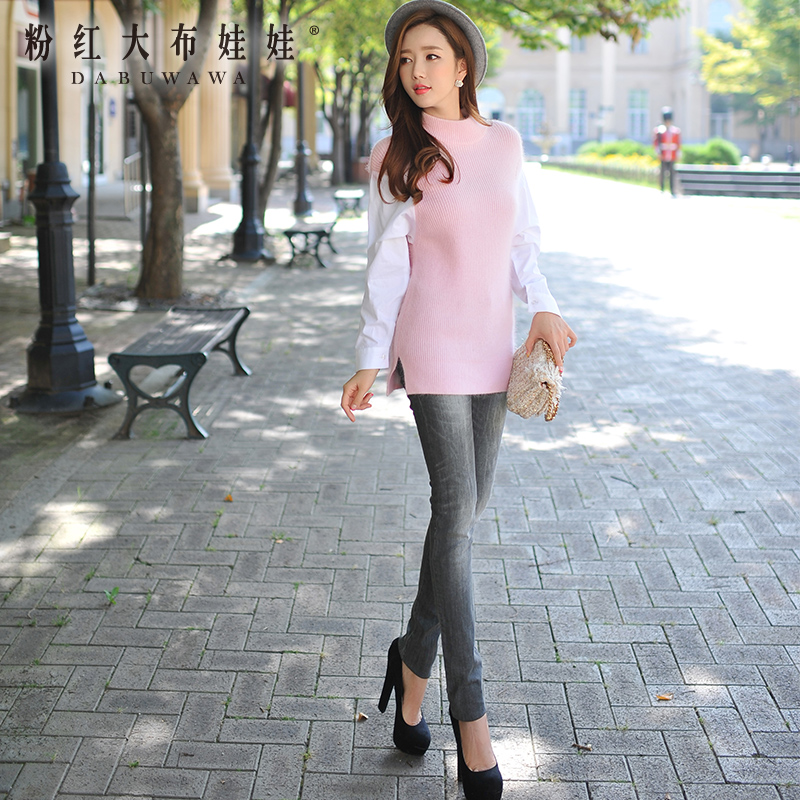 dabuwawa 2016 slim fashion gray jeans women  autumn dabuwawa 2016 slim fashion gray jeans women autumn