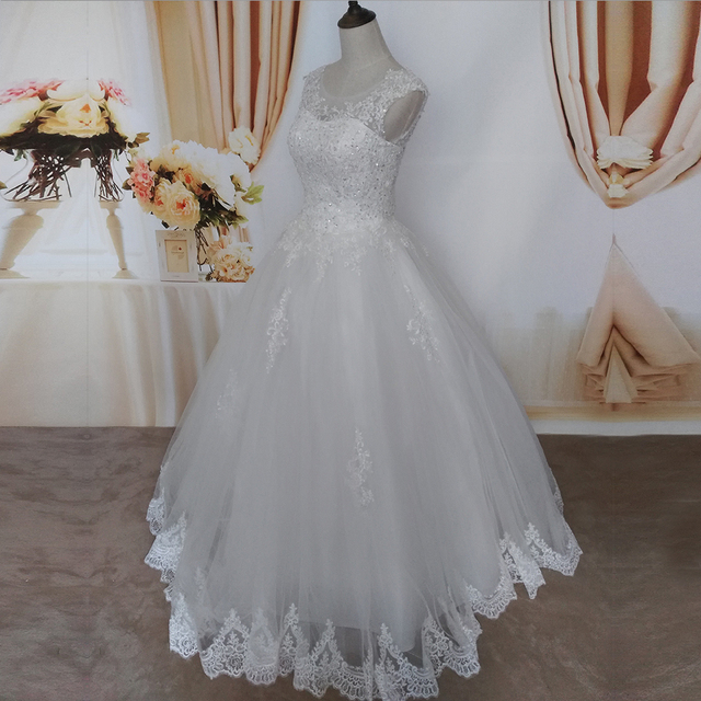 ZJ9128 2019 2020 new style fashion White Ivory Wedding Dresses for brides plus size maxi formal sweetheart with lace edge 3