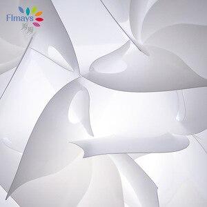 Image 5 - נורדי פרח מודרני DIY אלמנטים IQ פאזל ZE מנורת תקרת נברשת תליון מנורת כדור אור תאורת 30.5cm
