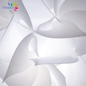 Image 5 - Nordic Flower Modern DIY Elements IQ Jigsaw Puzzle ZE Lamp Ceiling Chandelier Pendant Lamp Ball Light Lighting 30.5cm