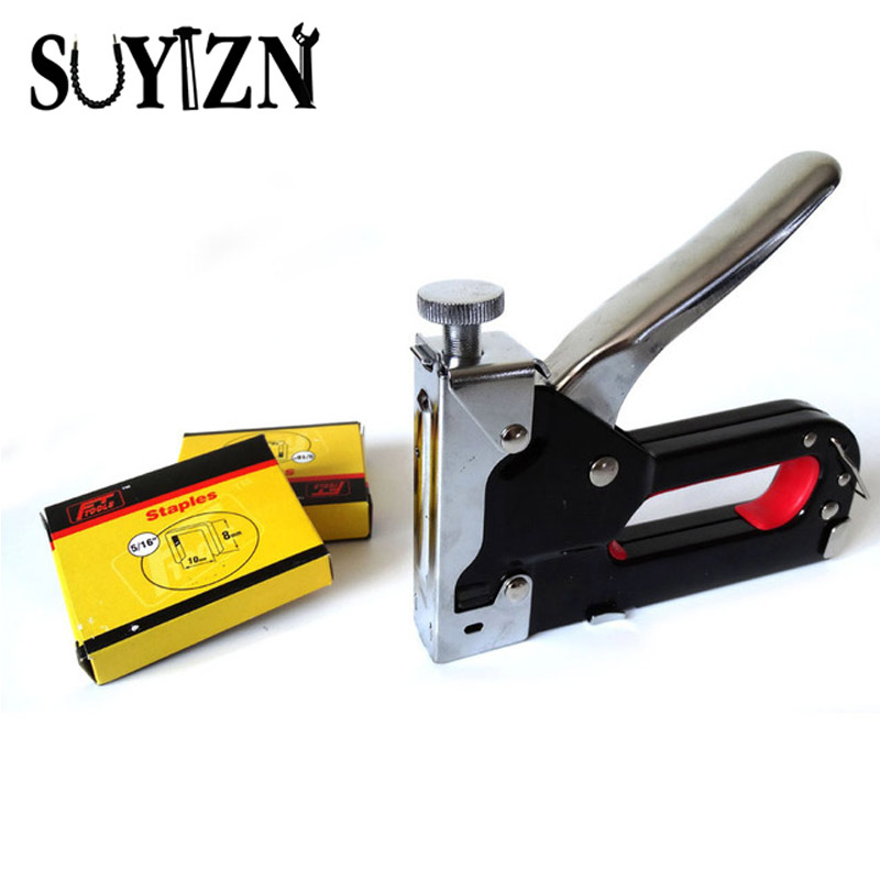 Multitool Nail Staple Gun Furniture Stapler For Wood Door Upholstery Framing Rivet Gun Kit Nailers Rivet Tool Nietzange HW246